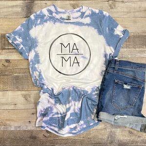 Mama Short Sleeve Bleach Tee Size Small